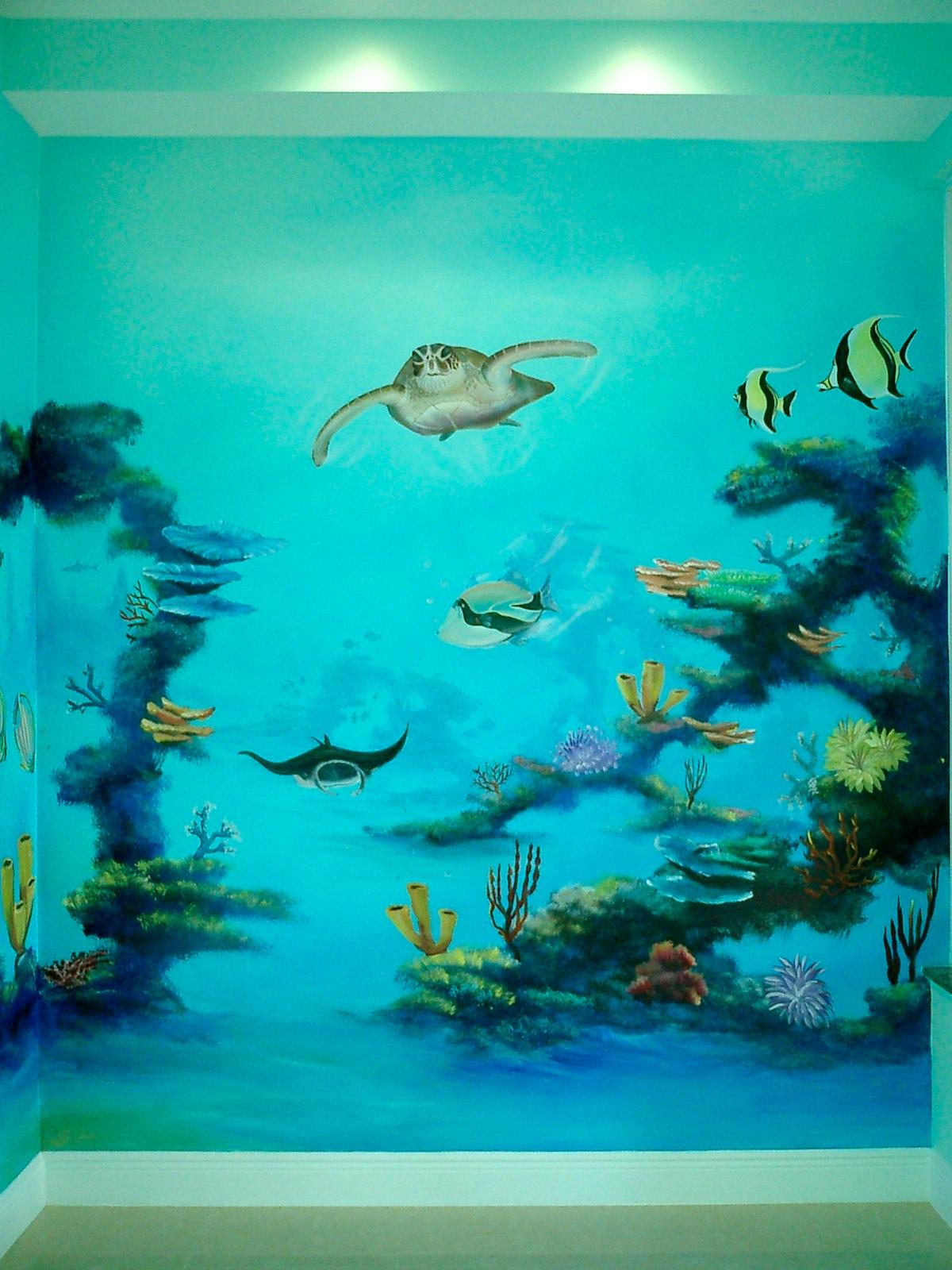 Art Turquoise Murals
