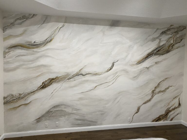 Faux Marble Accent Wall