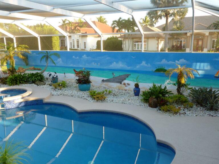 Bahama beach mural